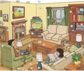 living room vocabulary lesson pdf