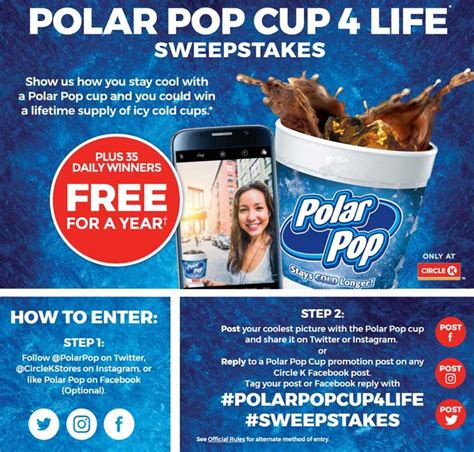 K Cup Sweepstakes - circle k polar pop cup 4 life sweepstakes sweepstakes pit