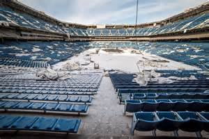 Pontiac Dome Pontiac Silverdome Former Home To Detroit Lions In Decay