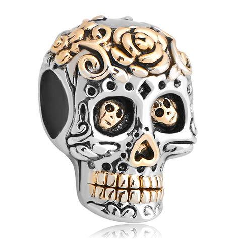 Buy Wholesale Pandora Skull Charm From China Pandora Fit Pandora Charms Silver Plated Dia De Los Muertos Skull