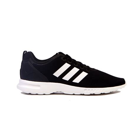 adidas zx flux smooth black white s shoes s82884
