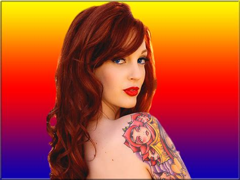 redhead tattoo lake model images