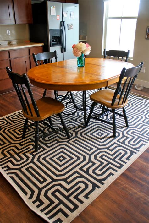 table rug 30 rugs that showcase their power the dining table