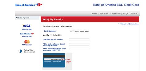 Credit Card Mmyy Format Bank Of America Edd Debit Card Login Banking