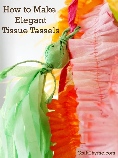 How To Make A Tissue Paper Tassel - how to make tassels from tissue paper craft thyme