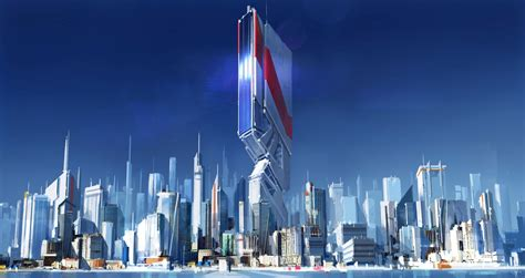 at the city s edge mirror s edge by michal kus imaginarycityscapes