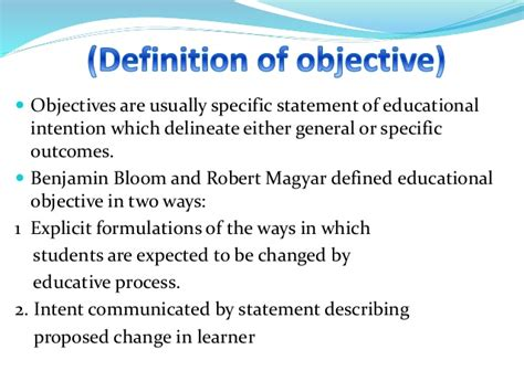 statement of educational objectives aims goals and objective purpose in curriculum development
