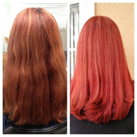 matrix hd red hair color before after hd red hair color long red hair matrix
