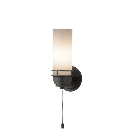 Pull Chain Wall Sconce Contemporary Single Light Sconce With Pull Chain Switch 203 78 Destination Lighting