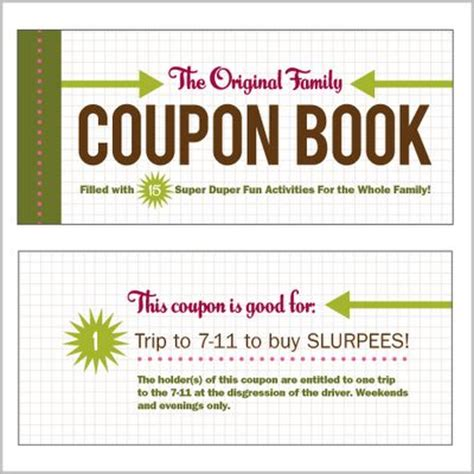 Handmade Coupon Ideas - family coupon book what a great idea for a