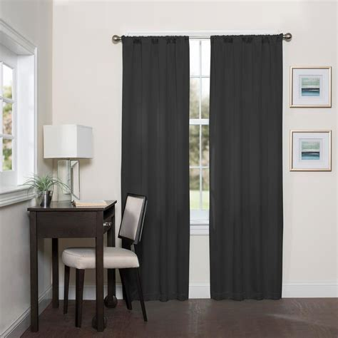 black eclipse curtains home decorators collection sheer white sheer voile rod