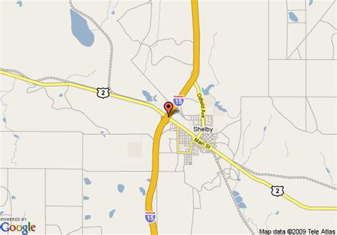 map of comfort inn shelby shelby