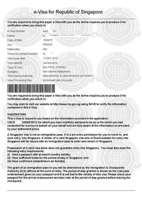 Employment Letter For Singapore Visa Application Of Singapore Visa Application