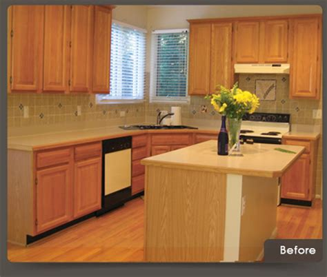 Refacing Cabinets Before And After by Resurfacing Kitchen Cabinets Before And After