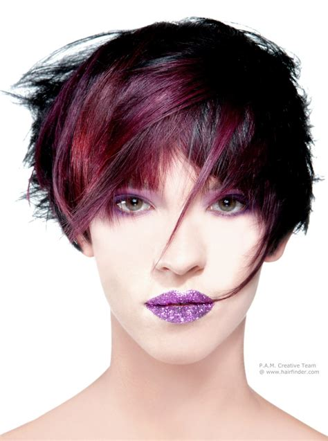 multiple color hair styles short multi color hairstyle with highlights and several