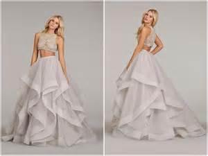 Two piece plus size wedding dresses prom dresses cheap