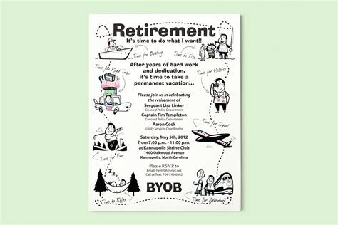 free retirement templates for flyers retirement flyer on behance