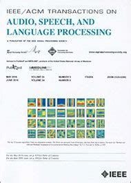 pattern classification and scene analysis ieee journals ieee acm transactions on audio speech and language
