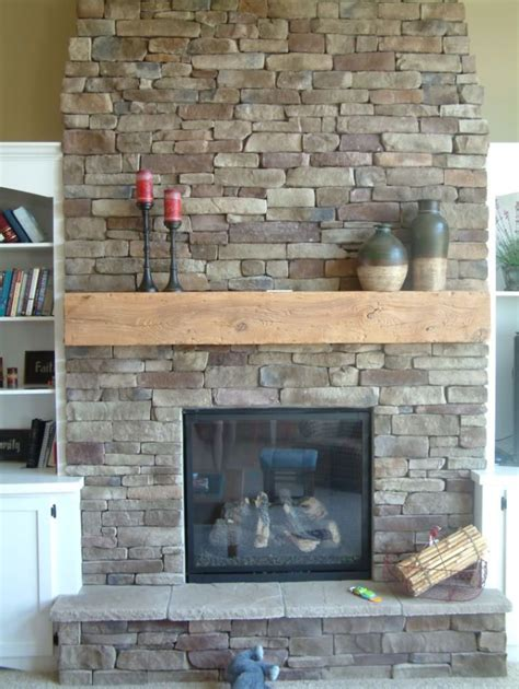 nice fireplaces nice grey stacked stone wall fireplace surround design