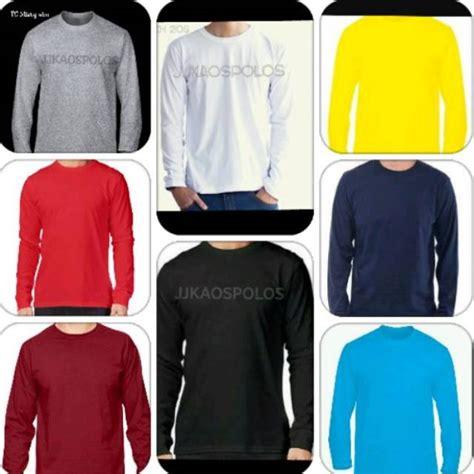 Kaos Polos Cotton Combed 20s 4xl kaos polos lengan panjang 20s size xs 4xl shopee indonesia