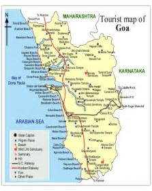 Goa India Map by Goa Maps Goa Tourism Portal India