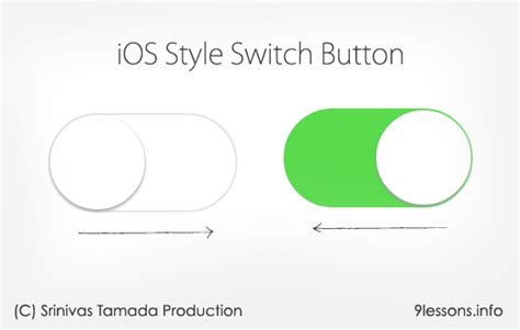 css layout ios ios style switch button using css3 and jquery scriptism com