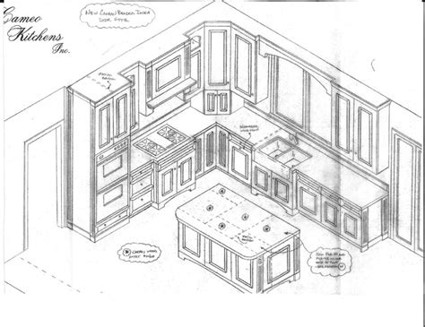 kitchen drawings kitchen isometric view drawing sketch coloring page