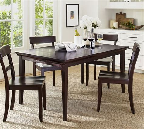 metropolitan extending dining table pottery barn
