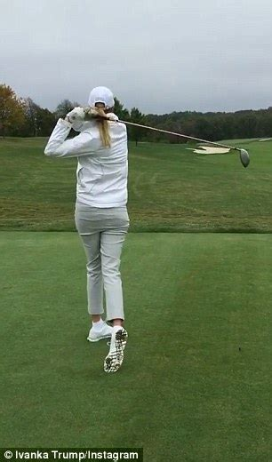 nice golf swing ivanka trump shows off golf swing during a trip to the