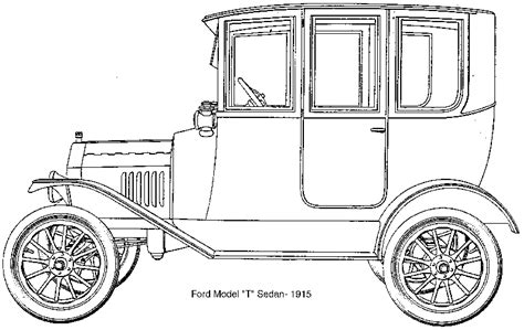 coloring page of model t car model t clipart clipart best