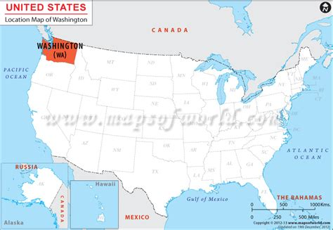 washington state usa map where is washington location of washington