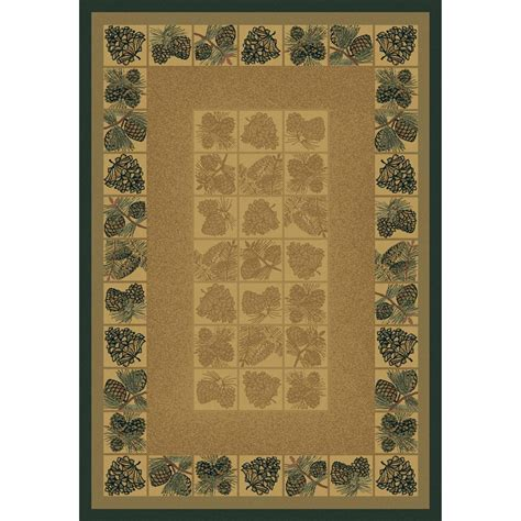 pine cone rug united weavers genesis pine cones rug 7 10 quot x 10 6 quot 128628 rugs at sportsman s guide