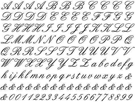 cursive letter cursive letters cursive letters font