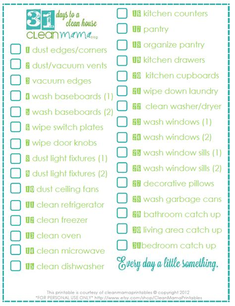 printable pa schedule ue 2012 day 21 31 days to a clean house clean mama
