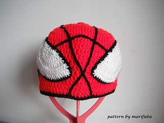 spiderman toque pattern ravelry crochet spiderman hat pattern by marifu6a