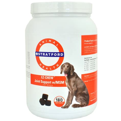 msm for dogs ez chew joint support with msm for dogs 180 soft chews