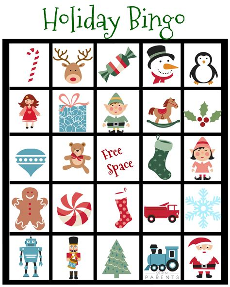 printable holiday bingo cards with pictures holiday bingo card printable for kids were parents