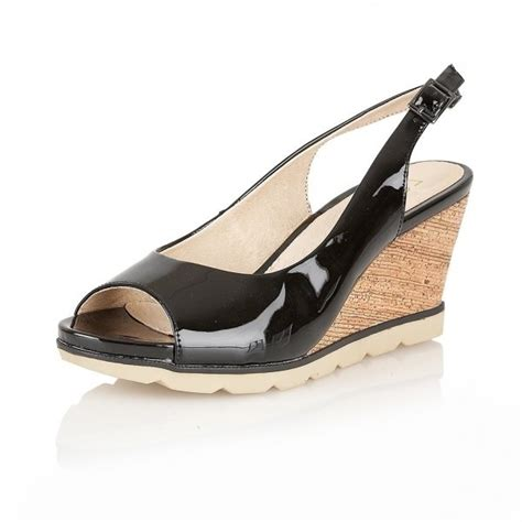maron black patent leather sling back wedge sandals