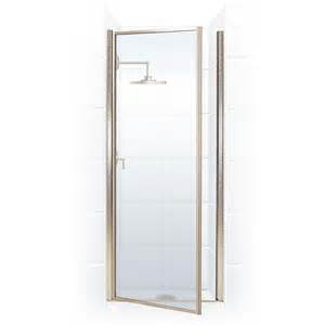 hinge shower door coastal shower doors legend series 34 in x 64 in framed