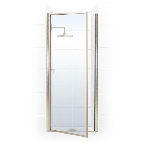 Hinged Glass Shower Door Coastal Shower Doors Legend Series 34 In X 64 In Framed Hinged Shower Door In Brushed Nickel