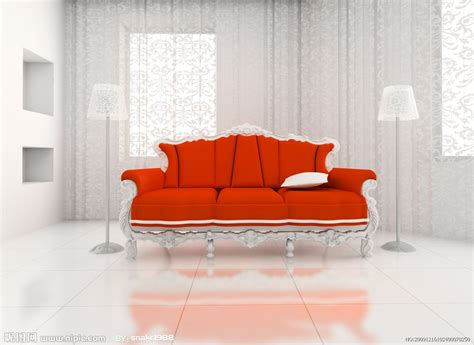 Orange Sofa Interior Design by