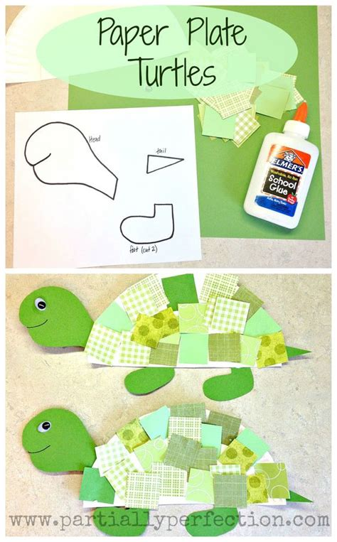Paper Plate Turtle Craft Template - paper plate turtles template included www