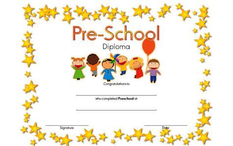 preschool certificate template preschool diploma certificate templates best 10 templates