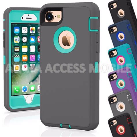 protective hybrid rugged shockproof cover for apple iphone 7 7 plus protect my phones