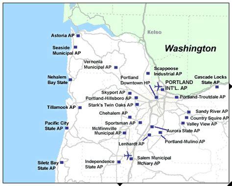 map of oregon airports northwest oregon airports tripcheck oregon traveler