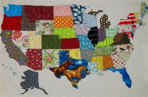 usa patchwork map quilt pattern from quilts by