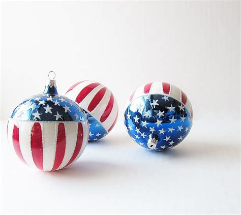 vintage patriotic christmas tree ornaments usa flag kringle