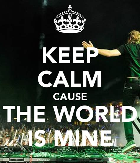 the world is mine keep calm cause the world is mine poster bruquiterio