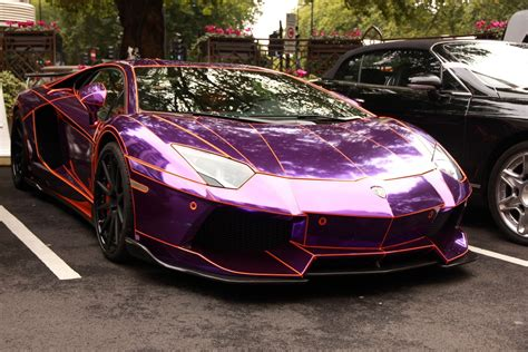 neon orange range rover aventador purple chrome lamborghini lp700 supercars tuning