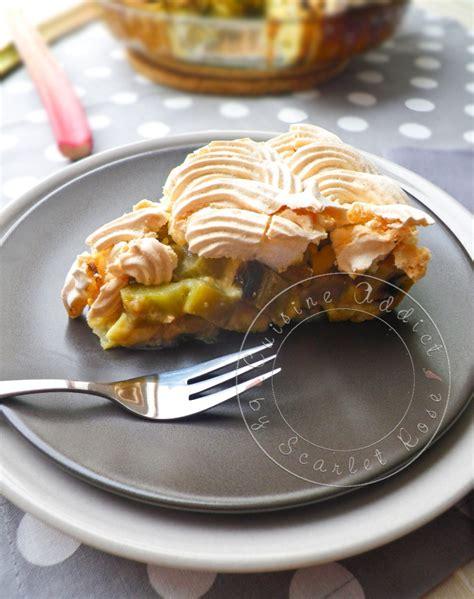 rhubarbe cuisine tarte 224 la rhubarbe meringu 233 e alsacienne cuisine addict